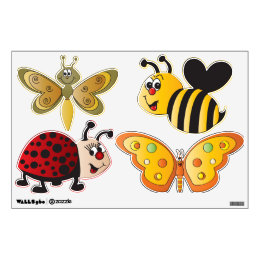Funny Cute Cartoon Insects Wall Sticker