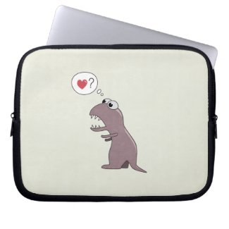 Funny Cute Cartoon T-Rex Dinosaur Laptop Sleeves