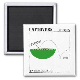 Funny Cute Cartoon Watermelon Laftovers Fridge Magnet
