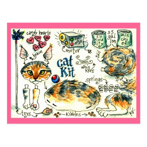 Funny cute cat kitten postcards