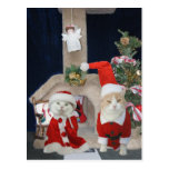 Funny/Cute Christmas Kitty Condo Post Card