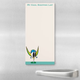 Funny, Cute, Colorful, Cartoon, Magnetic Notepad