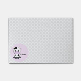 Funny cute cow cartoon polka dot girls post-it® notes