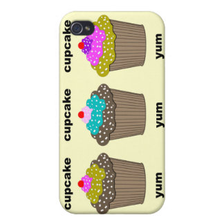 funny cute cupcakes iPhone 4/4S cover