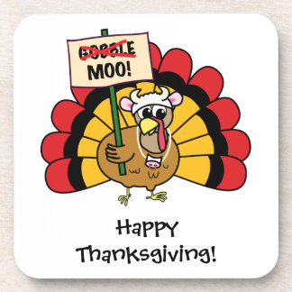 Funny, Cute Customizable Turkey Cork Coaster