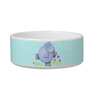 Funny cute dancing hippos bowl