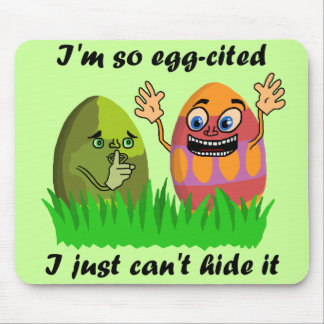 Funny Cute Easter Eggs Cartoon Mouse Pad