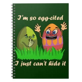 Funny Cute Easter Eggs Cartoon Notebooks