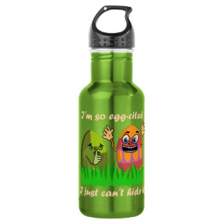 Funny Cute Easter Eggs Cartoon 18oz Water Bottle