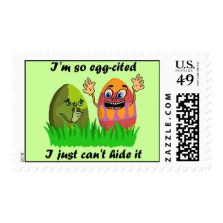 Funny Cute Easter Eggs Cartoon Postage