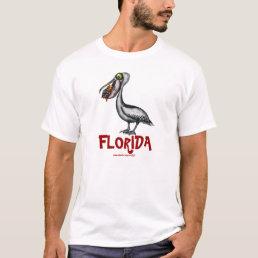 Funny cute Florida pelican t-shirt design
