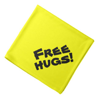 Funny Cute Free Hugs Dog Bandana for Therapy Dogs