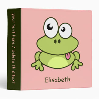 Funny cute frog cartoon kids binder