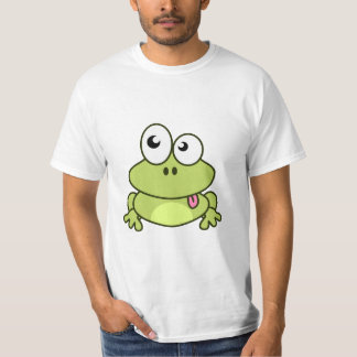 Funny cute frog cartoon man T-Shirt