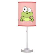 Funny cute frog cartoon pink kids desk lamp