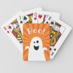 """Funny Cute Ghost Boo Spooky Fun Happy Halloween Playing Cards<br><div class=""""desc"""">Funny Cute Ghost Boo Spooky Fun Happy Halloween</div>"""