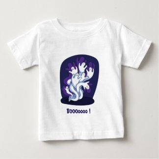 Funny cute ghosts halloween cartoon baby shirt