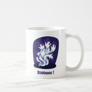 Funny cute ghosts halloween cartoon coffee mug