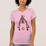 Funny Cute Giraffe and Cupcake T-shirt