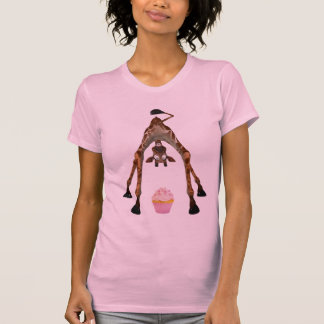 Funny Cute Giraffe and Cupcake T Shirts