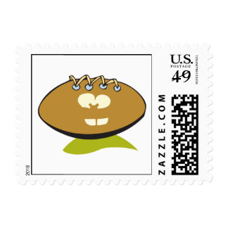 funny cute goofball football cartoon graphic postage