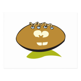 funny cute goofball football cartoon graphic postcard