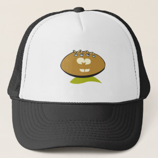 funny cute goofball football cartoon graphic trucker hat