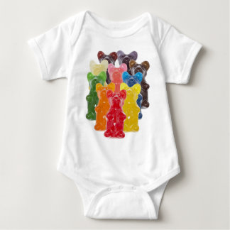 Funny Cute Gummy bear Herds Baby Bodysuit
