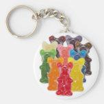 Funny Cute Gummy bear Herds Basic Round Button Keychain