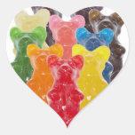 Funny Cute Gummy bear Herds Heart Sticker