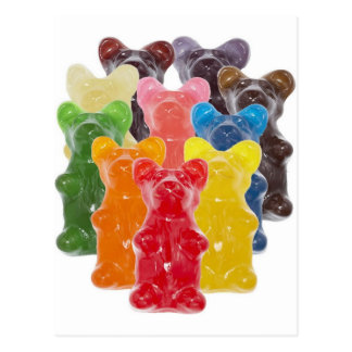 Funny Cute Gummy bear Herds Postcards