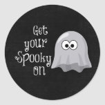 Funny, Cute Halloween Ghost; Get your Spooky On Stickers