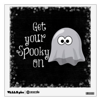 Funny, Cute Halloween Ghost; Get your Spooky On Wall Decal