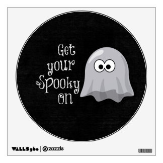 Funny, Cute Halloween Ghost; Get your Spooky On Wall Sticker
