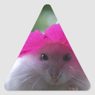 Funny Cute Hamster Triangle Sticker