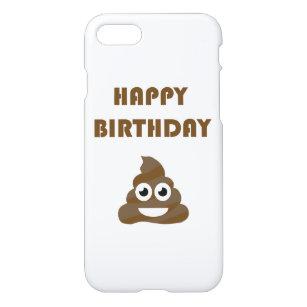 Funny Cute Happy Birthday Party Poop Emoji IPhone 8 7 Case
