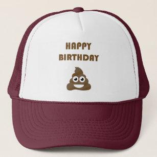 Funny Cute Happy Birthday Party Poop Emoji Trucker Hat