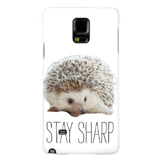 Funny cute hedgehog stay sharp quote hipster humor galaxy note 4 case