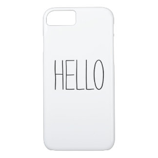 Funny cute hello hi slogan hipster quote iPhone 7 case