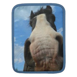 funny cute horse head nose ipad case sleeve