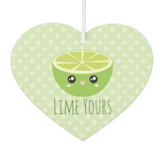 Funny Cute Kawaii Lime Yours I'm Yours Fruit Pun Car Air Freshener