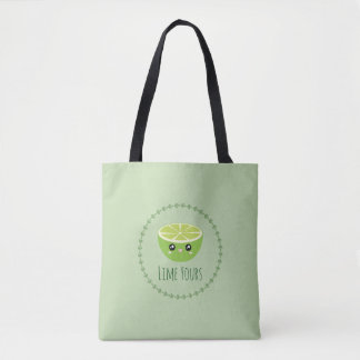 Funny Cute Kawaii Lime Yours I'm Yours Fruit Pun Tote Bag