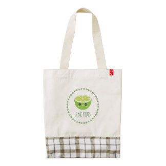 Funny Cute Kawaii Lime Yours I'm Yours Fruit Pun Zazzle HEART Tote Bag