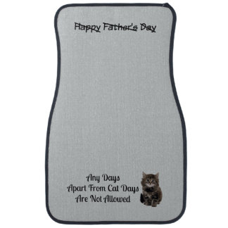 Funny Cute Kitten Fathers Day Car Mats