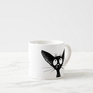 Funny Cute Little Black Cat Art 6 Oz Ceramic Espresso Cup