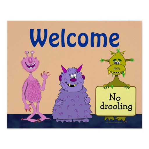 Funny cute monsters welcome back to school kids poster zazzle