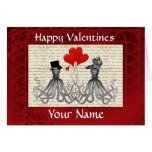 Funny cute octopi valentines day card