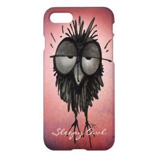 Funny Cute Owl Lover's Sleepy Owl iPhone 7 Case