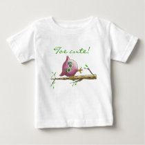 Funny & Cute Owl on a Branch Baby T-Shirt
