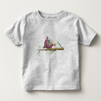Funny & Cute Owl on a Branch Toddler T-shirt